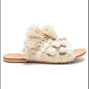 Free people mars at night tassel ivory sandals